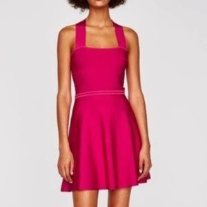 Zara pink bandage dress size M // 1294